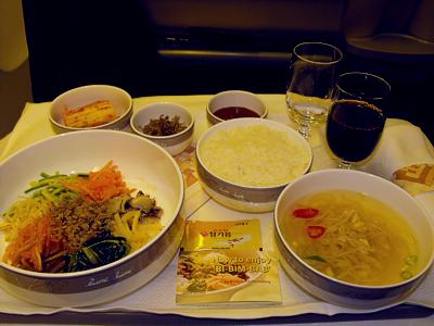 Asiana reviews inflight food airline meal pictures for Asiana korean cuisine restaurant racine