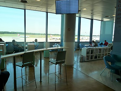Austrian Airlines lounge in Vienna The Frequent Traveller Schengen Lounge June 2011