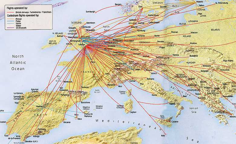 Ba S European Routes May 2008