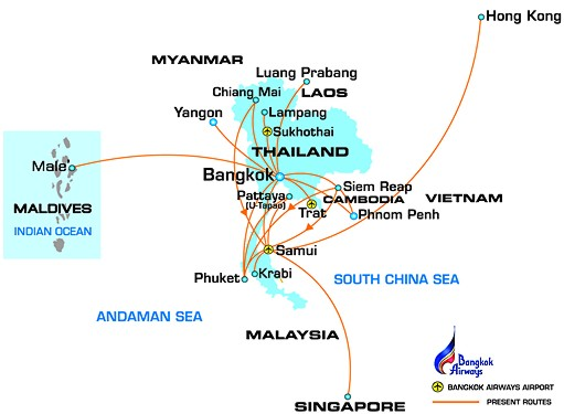 Bangkok Airways Routemap Dec 2010