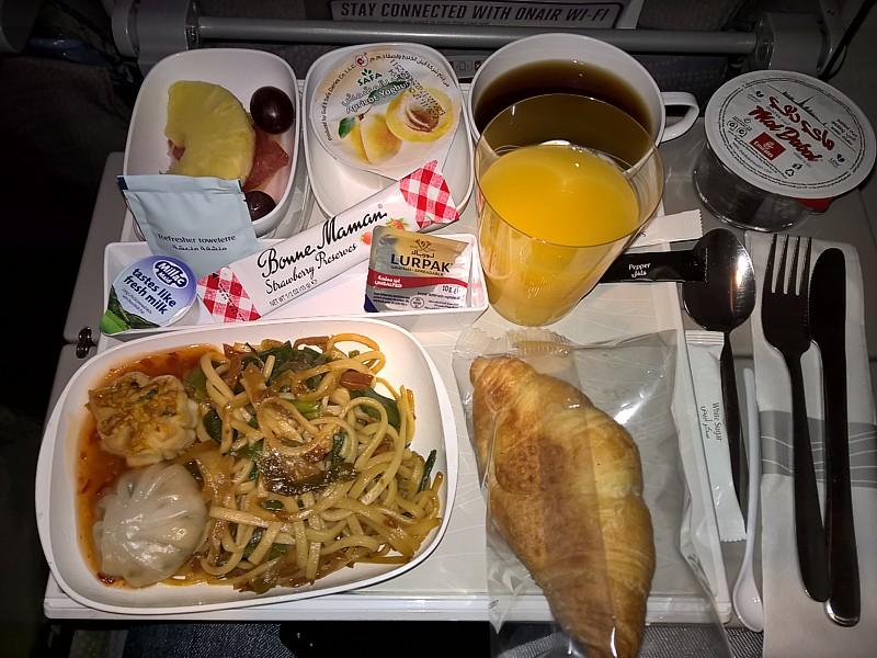 Emirates Economy Food Menu