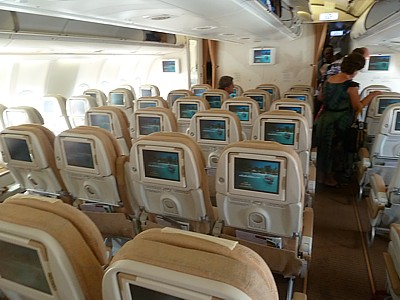 Etihad Airbus A340 Economy Class CabinEtihad Business Class A340