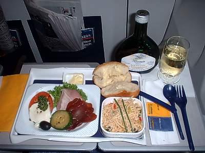 Lufthansa Flight  Food Service For   Pm Flight