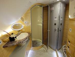 Emirates A380 First Class showers