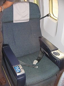 Qantas 767 business class seat for a 1-2-1 layout Oct 2007