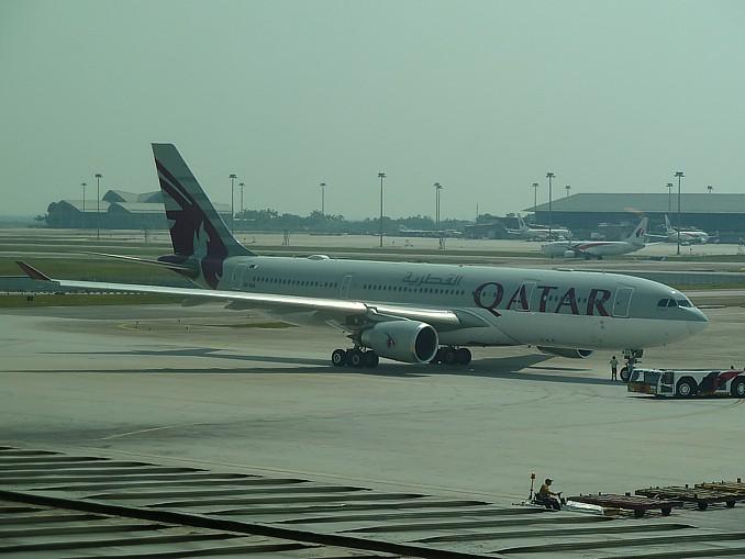 Qatar Airways A330 at Kuala Lumpur