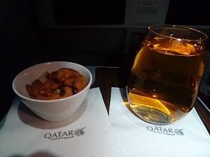 Qatar Airways inflight drinks