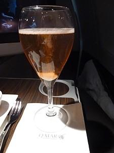 Qatar Airways - fizz cocktails