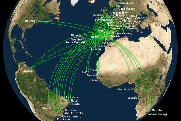 TAP Air Portugal Overview Pictures Reviews Of TAP Air - Portugal globe map