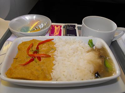 Inflight meal reviews for Air thai cuisine