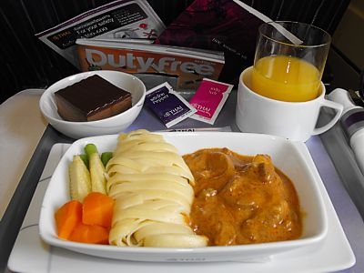 Thai airways reviews inflight food airline meal pictures for Air thai cuisine