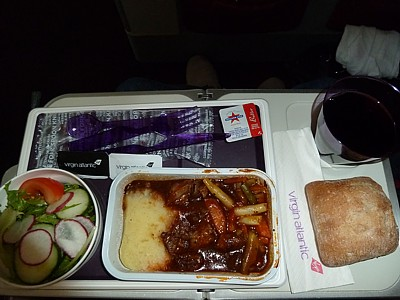 Virgin Atlatnic Food Menu