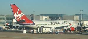 Virgin Atlantic 747 at London Heathrow Dec 2003