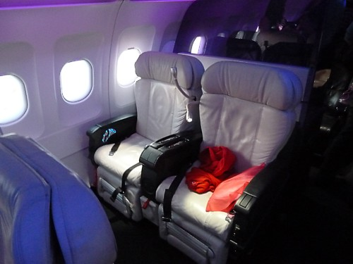 Virgin America First Class Seat On An A320 June 2011