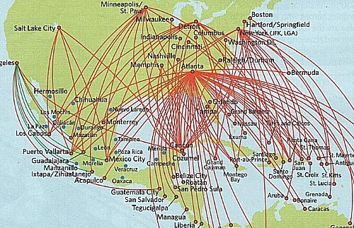 Delta Reviews Routes Schedules Analysis Opinions With: Flight Map Usa At Usa Maps