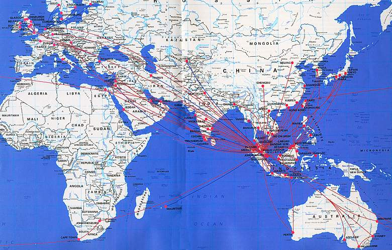 Malaysia airlines reviews routes schedules analysis malaysia airlines route map oct 04 publicscrutiny Images